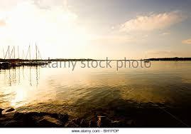 Jetty with sailing boats  Felden  Lake Chiemsee  Chiemgau  Bavaria  Germany   Alamy
