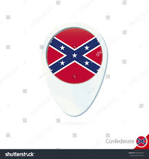 Confederate Flag Pin Usa State Confederate Flag Location Map Stock Vector 348664244