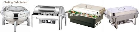 deluxe stainless steel chafing dish with porcelain food pan buffet