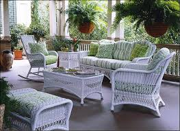 white wicker furniture for different touch home backyard landscape