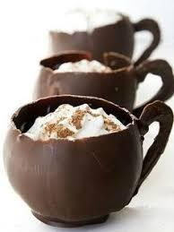 you can fill the chocolate cups with treats or whip up a