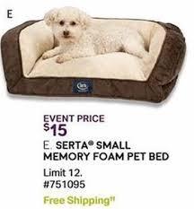 sam u0027s club black friday serta small memory foam pet bed for