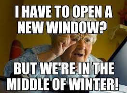 Computer Grandma Meme - too old for technology not daves computer tips