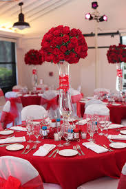 Red Wedding Decorations Red Floral Centerpieces Bitsy Bride Red Weddings Pinterest