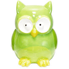 Owl Theme by Baby Nursery Cute Animal Piggy Bank For Display Decors Green