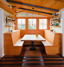 built in dining room bench banquette bench kitchen eclectic with built in booth bench