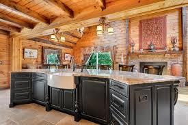 black kitchen cabinets in log cabin log cabin kitchen design rustic kitchen new york by