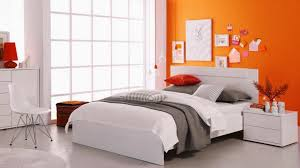 OrangePaintIdeasforBedroomwithanAccentWall Home Design - Bedroom orange paint ideas