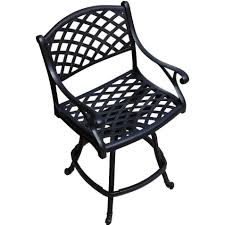 Counter Height Outdoor Bar Stools Heritage 3 Piece Cast Aluminum Patio Counter Height Fire Pit Bar