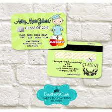 Graduation Invite Cards Kindergarten Graduation Announcement Cards Credit Card Kinder