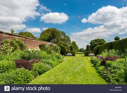 famous double herbaceous borders at arley hall gardens in cheshire