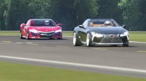 lexus lc race car honda nsx u002715 vs lexus lc500 u002717 at top gear youtube