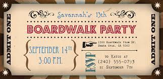 themed invitations boardwalk theme birthday invitation on behance