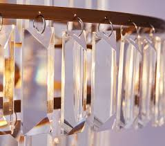 Crystal Drops For Chandeliers Rectangular Crystal Drop Chandelier Pottery Barn Kids