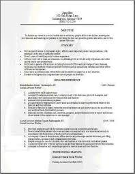 Sample Social Worker Resume No Experience by Social Work Resume Examples Haadyaooverbayresort Com