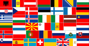 Europe Flag Map by Geoatlas Flags Flags Of Europe Map City Illustrator Fully