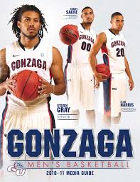 gu 2010 11 men u0027s basketball media guide by gonzaga university