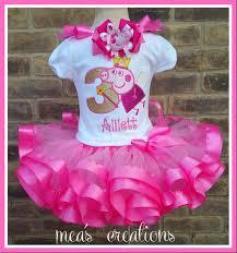 peppa pig ribbon peppa pig tutu inspired birthday set fairy peppa pig inspired