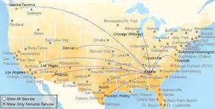 swa route map southwest airlines changes the atlanta landscape out delta
