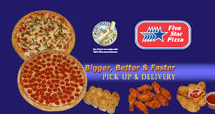 five star pizza delivery pick up menu five star pizza delivery