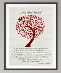 hochzeitsgeschenk beste freundin personalisierte geschenk für freund beste freundin zitieren plakat