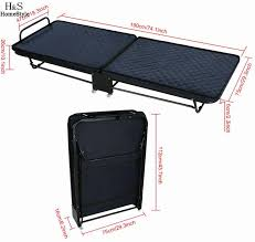 Folding Single Camping Bed Single Rollaway Bed With Mattress Rolling Folding Portable Outdoor