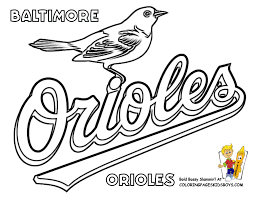 baseball coloring pages baltimore orioles coloring at yes