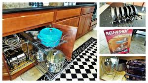 Kitchen Pan Storage Ideas by Kitchen Organization Ideas Pots U0026 Pans Youtube
