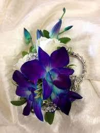 blue orchid corsage violet blue orchids silk search blue orchids