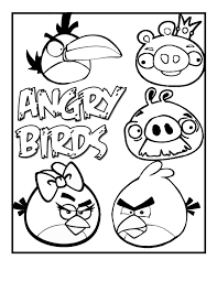 angry birds coloring pages u2013 birthday printable