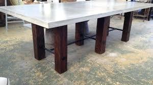 diy concrete dining table concrete top dining table masonry wood and black concrete dining