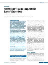 Dr Martin Baden Baden Notärztliche Versorgungsqualität In Baden Württemberg
