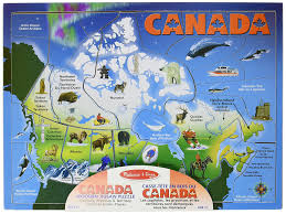 Canada Map by Melissa U0026 Doug Canada Map Jigsaw Puzzles Amazon Canada