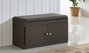 margaret wood two door shoe storage cabinet with seating bench