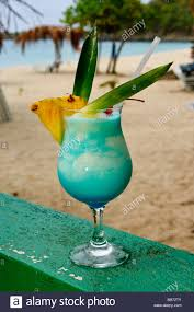 blue lagoon cocktail blue lagoon cocktail kali u0027s beach bar st martin maarten stock