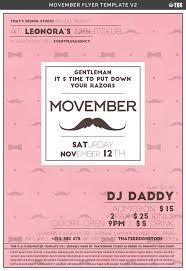 movember flyer template v2 by tdstore design bundles