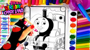 learn colors for kids and hand color thomas the train coloring