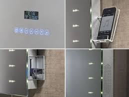 led bathroom mirrors uk image illuminated bathroom radio mirror buycleverstuff