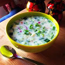 okroshka recipe rusian cold soup beverage food recipe