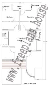 12x45 feet flirst floor plan plans pinterest square meter