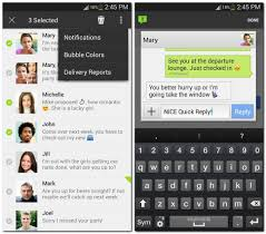 sms apps for android four android messaging apps with a something cnet