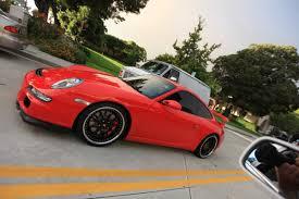 porsche gt3 red red porsche 911 gt3 with black wheels 1 madwhips