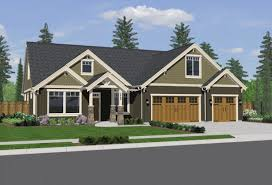 Cottage Plans With Garage Single Story Craftsman Style Homes House Plans Endearing New
