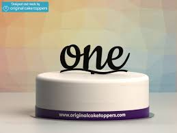 one cake topper one black 1st birthday cake topper original cake toppers