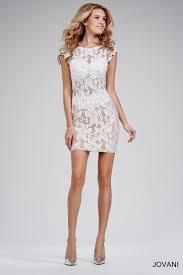 short white jeweled dress 26739 lace dresses beautiful