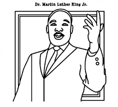 Martin Luther King Jr Coloring Pages Getcoloringpages Com Dr Martin Luther King Jr Coloring Pages