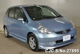 japanese used cars honda fit 2002 honda fit jazz light blue for sale stock no 27695
