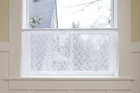 Lace Cafe Curtains Dappled Lace Café Curtain Pattern Knitting Patterns And Crochet