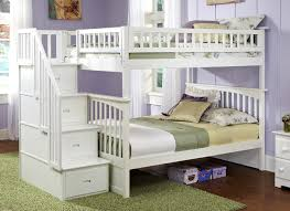 White Bunk Bed With Trundle Bedroom Interesting Bunk Bed Stairs For Kids Room Furniture