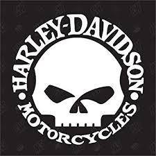 harley davidson skull sticker amazon co uk car motorbike